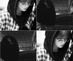 aesthetic, black white, and 美的 image