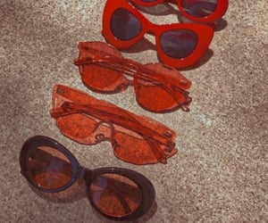 red, sunglasses, and theme image