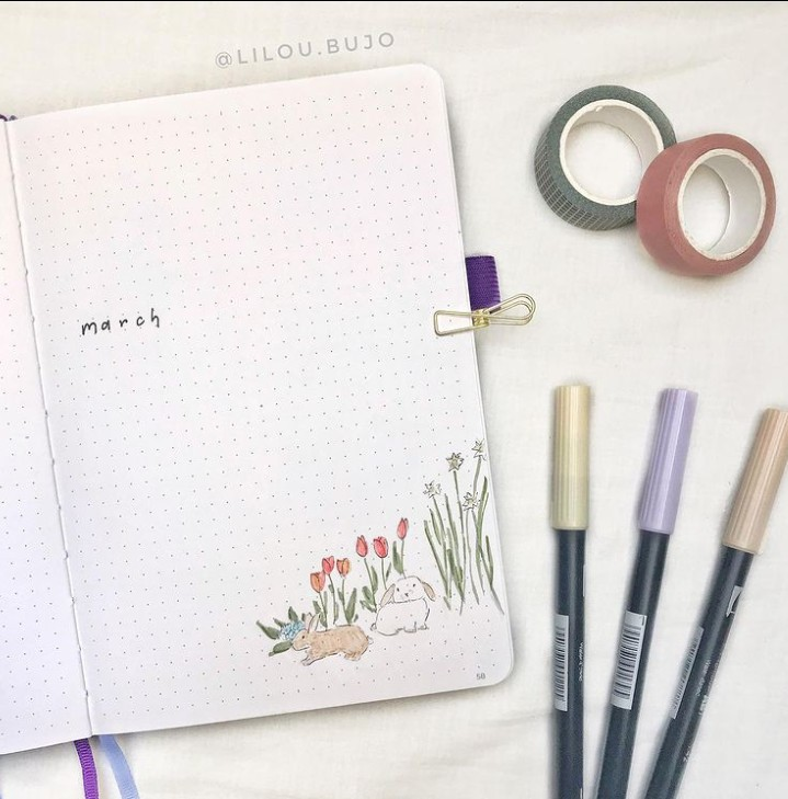 inspo, journal, and march image