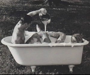 bath, foam, and nudity image