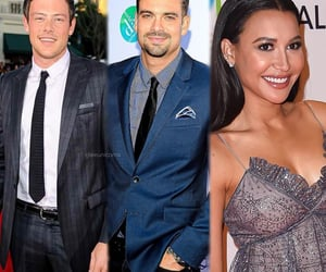 naya rivera, glee, and cory monteith image