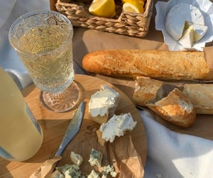 baguette, blue, and breakfast image