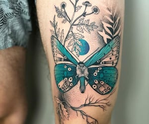 art, butterfly, and tat image
