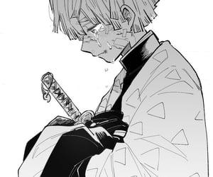 anime, sad, and demon slayer image