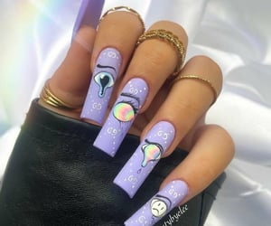 mauve, nails, and ongles image