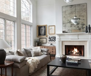 ceiling, fashion, and fireplace image