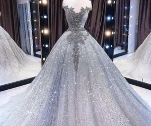 wedding, dress, and long dress image