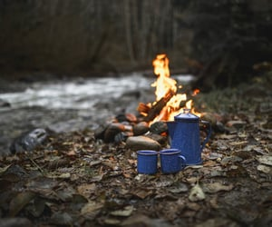 adventure, coffe, and fire image