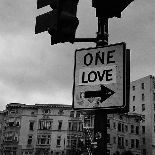 love, one love, and street image