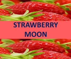 strawberry moon, full moon 2021, and strawberry moon 2021 image