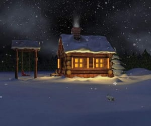 beauty, good night, and snowy image
