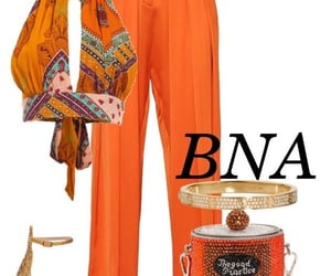 orange, outfits, and Polyvore image