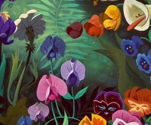 alice in wonderland, flowers, and background image