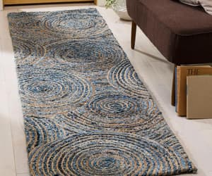 etsy, braided rug, and living room rug image