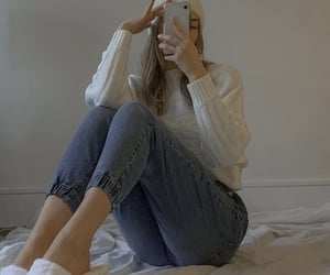 cold, white, and fashion image