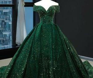 a-line, dress, and elegant image