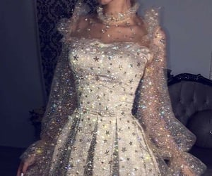 aesthetic, glitter, and dress image