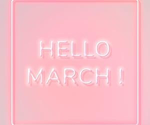 march, pink, and month image