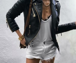 accessories, casual, and denim shorts image