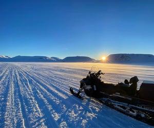 Snowmobile trip.