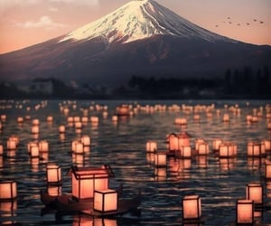 aesthetic, fuji, and mountain image