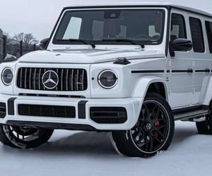 4x4, benz, and snow image