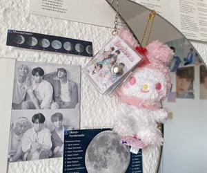 aesthetic, moon, and wall image