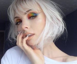 colorful, creative, and eyeshadow image