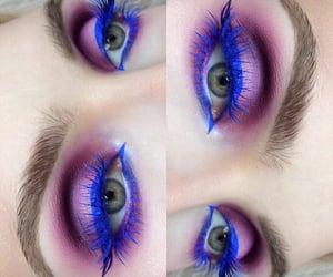 blue, eyeliner, and eyeshadow image