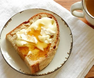 food, bread, and breakfast image