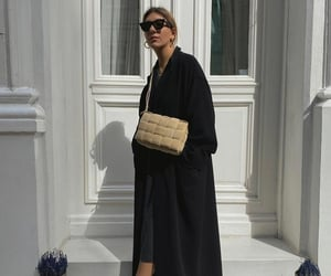 blogger, black coat, and Louis Vuitton image