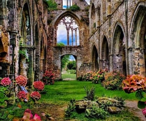 castle, flowers, and aesthetic image