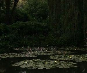 aesthetic, dark, and lake image