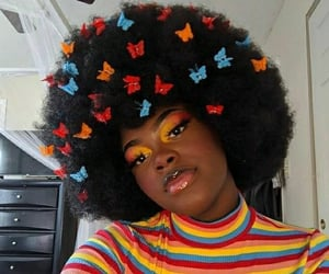 aesthetic, colorful, and makeup image