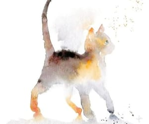 cat, wallpaper, and watercolor image