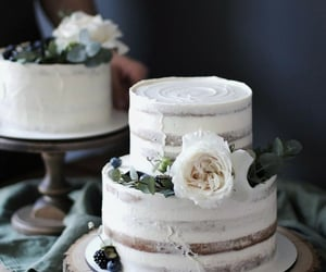 art, blue, and cake image