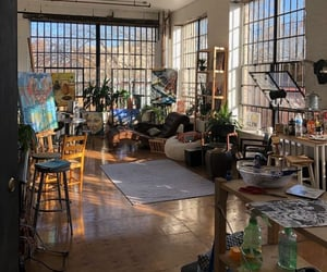 art, art studio, and house image