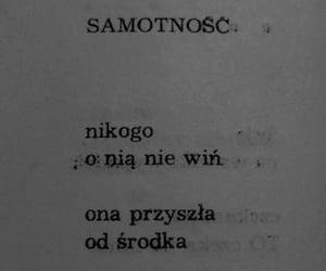 samotnosc, poezja, and wiersz image