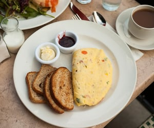 aesthetic, toast, and breakfast image