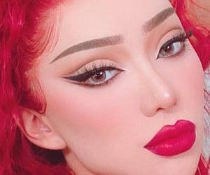 beauty, eyelashes, and highlight image
