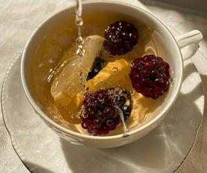 fruit, tea, and aesthetic image