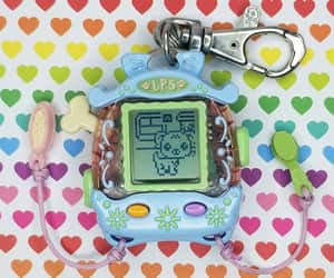 blue, keychain, and virtual pet image