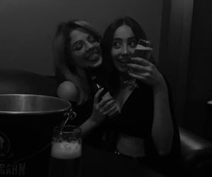 beer, bff, and blackandwhite image