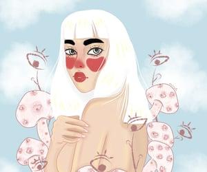art, eyes, and illustration image