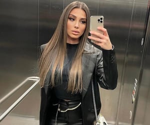 girl site model, instagram baddie, and fashion style look image