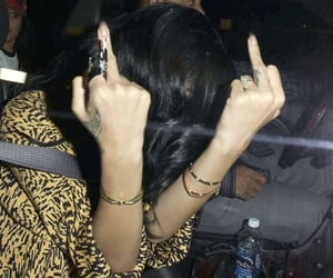 middle finger, baddie, and badgalriri image