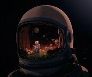 art, astronaut, and beautiful image