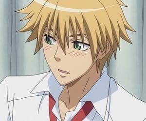 blushing, anime boy, and kawaii image