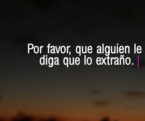 te extraño, amor, and frases image
