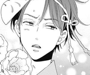 black and white, manga, and yukata image